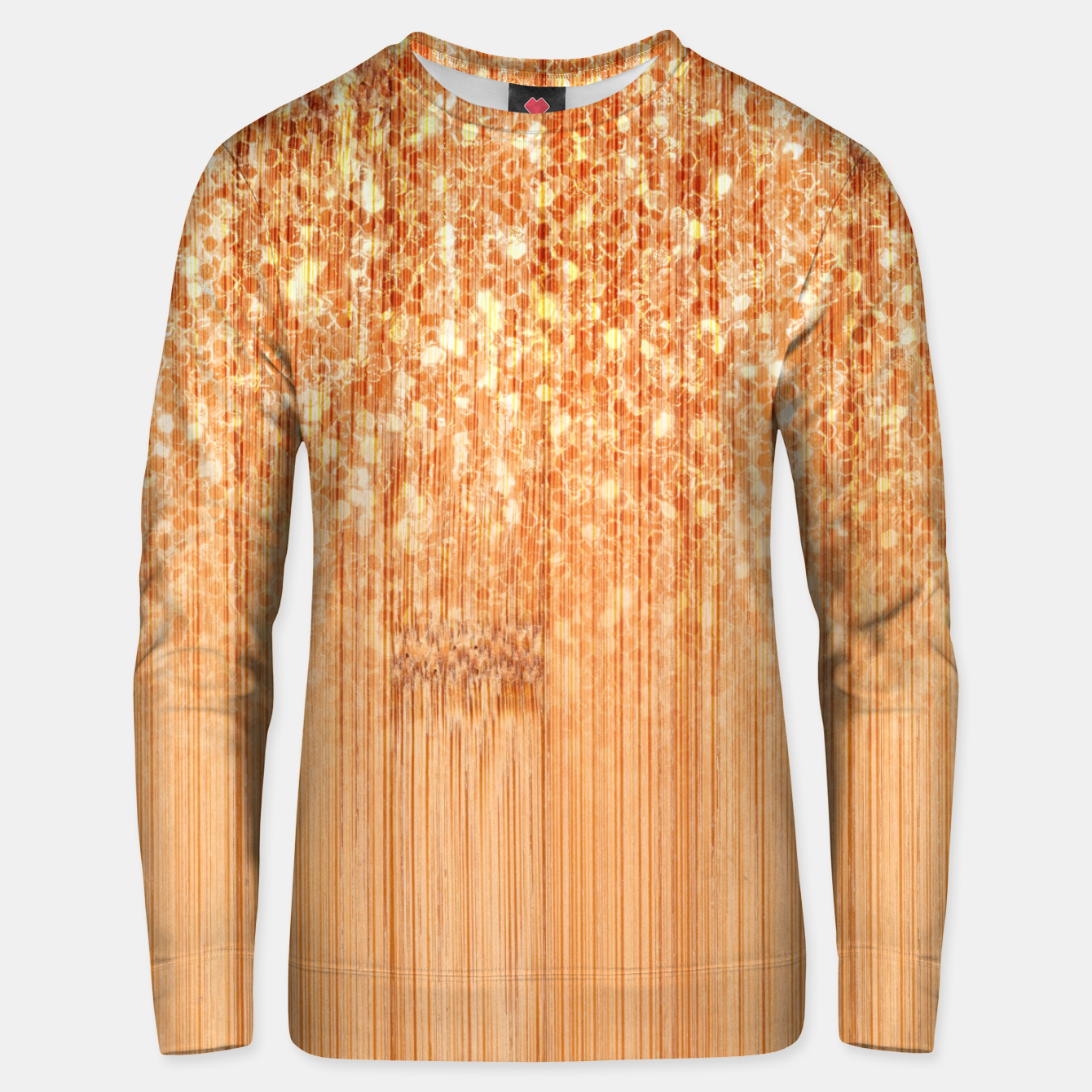 Image of Sparkly natural bamboo wood print Unisex sweater - Live Heroes