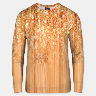 Thumbnail image of Sparkly natural bamboo wood print Unisex sweater, Live Heroes