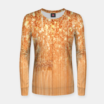 Sparkly natural bamboo wood print Women sweater thumbnail image