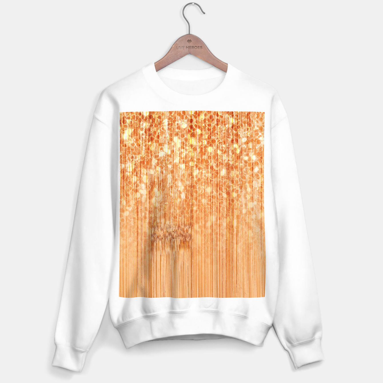 Image of Sparkly natural bamboo wood print Sweater regular - Live Heroes