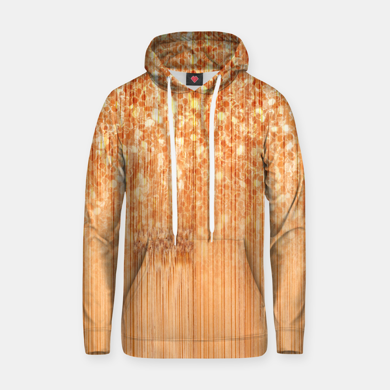 Image of Sparkly natural bamboo wood print Hoodie - Live Heroes
