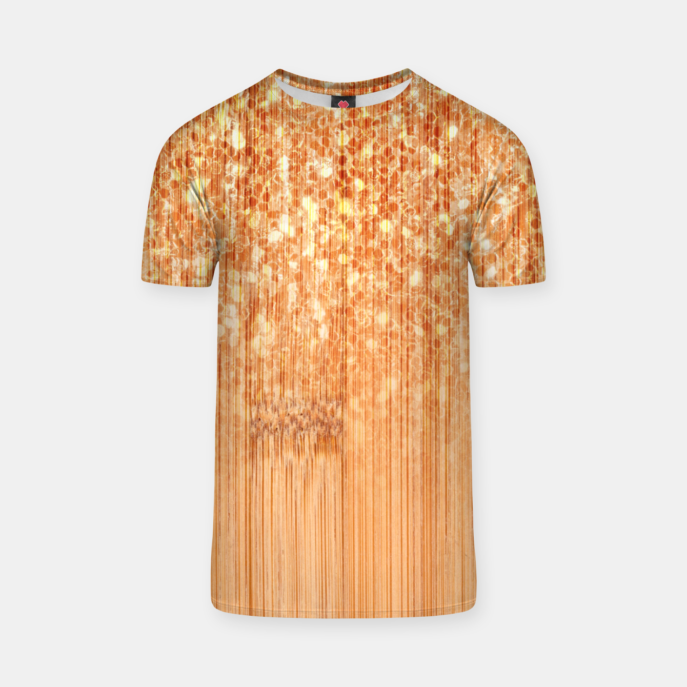 Image of Sparkly natural bamboo wood print T-shirt - Live Heroes