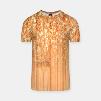 Thumbnail image of Sparkly natural bamboo wood print T-shirt, Live Heroes
