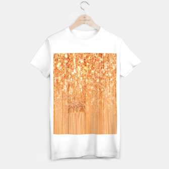 Miniaturka Sparkly natural bamboo wood print T-shirt regular, Live Heroes