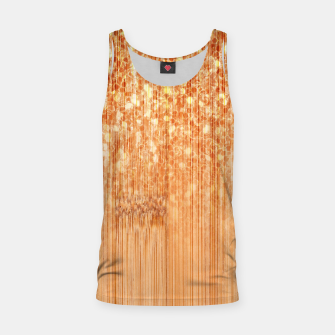 Sparkly natural bamboo wood print Tank Top thumbnail image