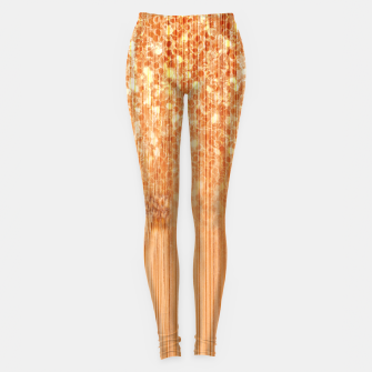 Thumbnail image of Sparkly natural bamboo wood print Leggings, Live Heroes