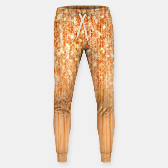 Thumbnail image of Sparkly natural bamboo wood print Sweatpants, Live Heroes