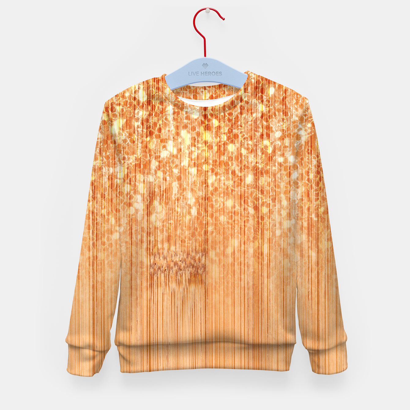 Image of Sparkly natural bamboo wood print Kid's sweater - Live Heroes