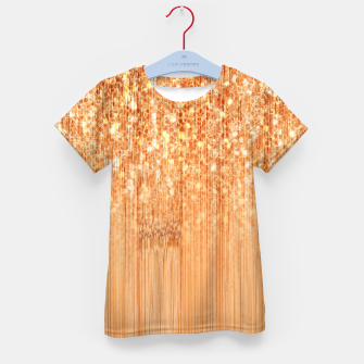 Thumbnail image of Sparkly natural bamboo wood print Kid's t-shirt, Live Heroes