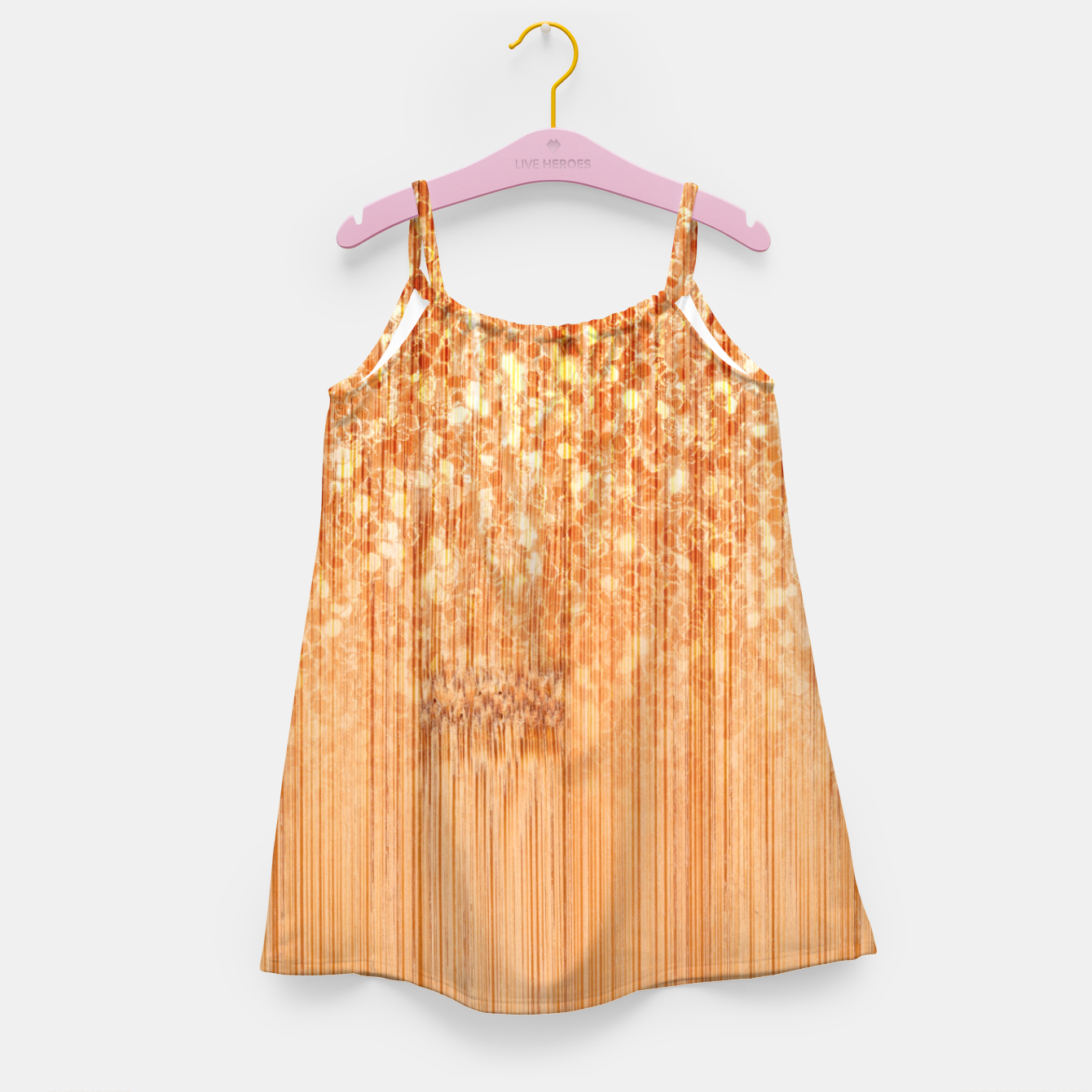 Image of Sparkly natural bamboo wood print Girl's dress - Live Heroes