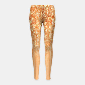 Sparkly natural bamboo wood print Girl's leggings thumbnail image