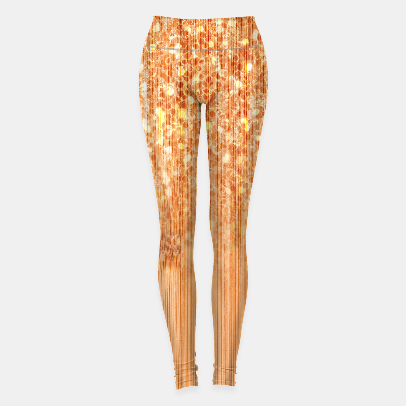 Image of Sparkly natural bamboo wood print Leggings - Live Heroes