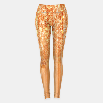 Sparkly natural bamboo wood print Leggings thumbnail image