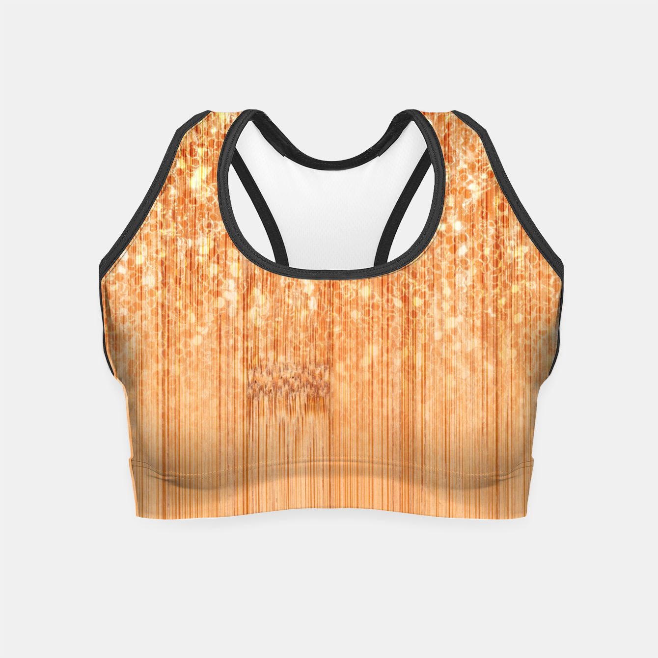 Image of Sparkly natural bamboo wood print Crop Top - Live Heroes