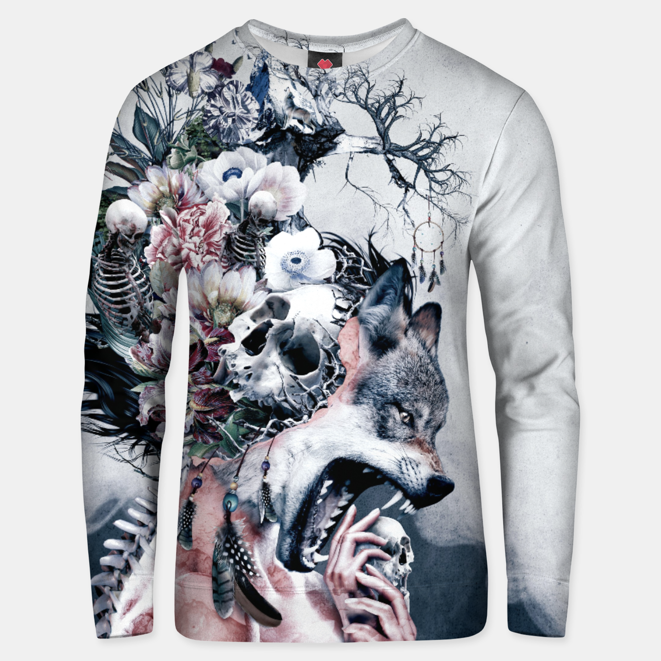 Image of Wolf Unisex sweater - Live Heroes