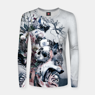 Thumbnail image of Wolf Women sweater, Live Heroes
