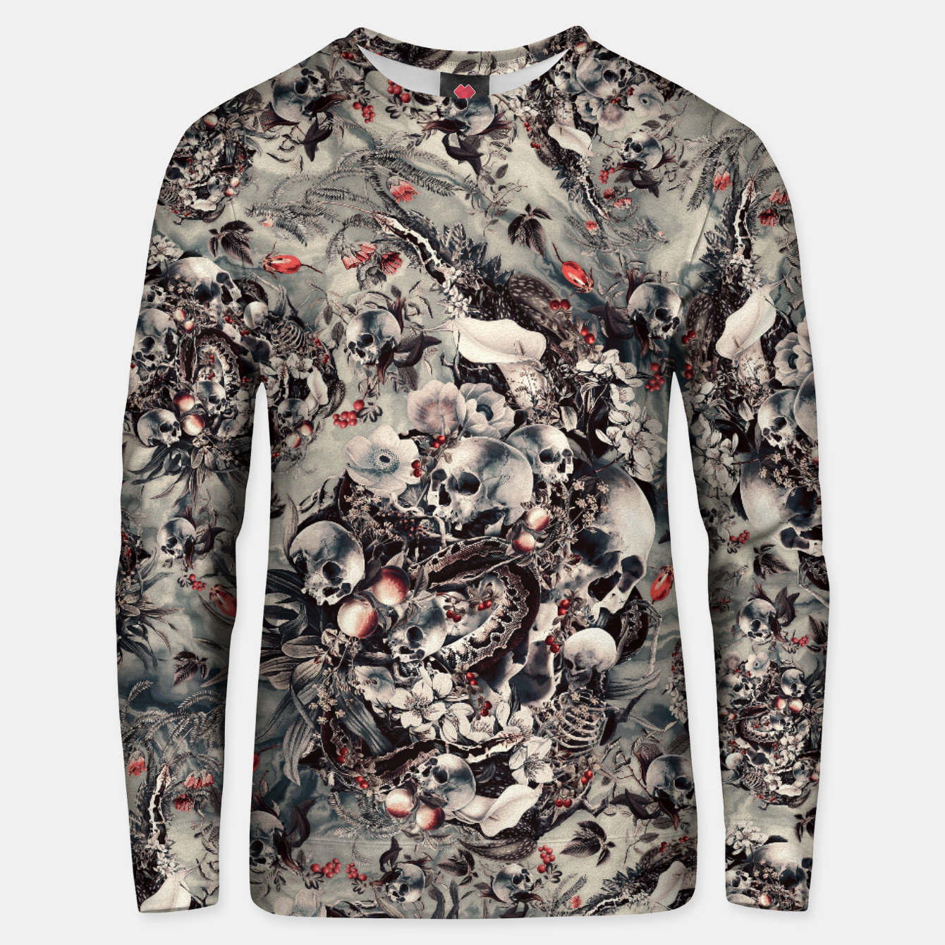 Image of Skull Storm Unisex sweater - Live Heroes