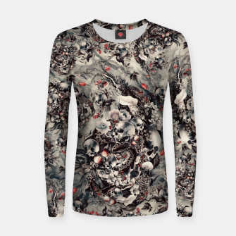 Thumbnail image of Skull Storm Women sweater, Live Heroes