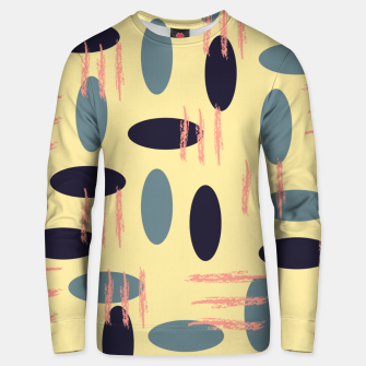 Thumbnail image of Mid century modern abstract shapes pattern Unisex sweater, Live Heroes
