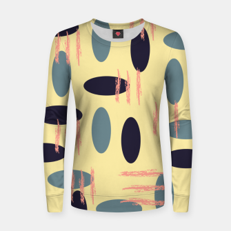 Thumbnail image of Mid century modern abstract shapes pattern Women sweater, Live Heroes