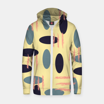 Thumbnail image of Mid century modern abstract shapes pattern Zip up hoodie, Live Heroes