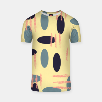 Thumbnail image of Mid century modern abstract shapes pattern T-shirt, Live Heroes