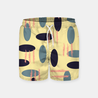 Thumbnail image of Mid century modern abstract shapes pattern Swim Shorts, Live Heroes