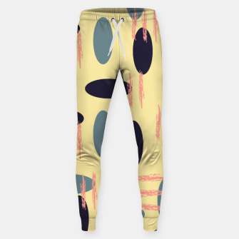 Thumbnail image of Mid century modern abstract shapes pattern Sweatpants, Live Heroes