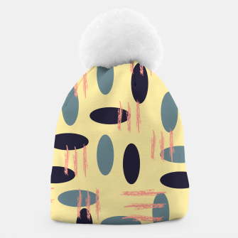Thumbnail image of Mid century modern abstract shapes pattern Beanie, Live Heroes