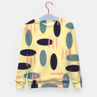 Thumbnail image of Mid century modern abstract shapes pattern Kid's sweater, Live Heroes