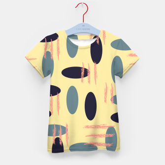 Thumbnail image of Mid century modern abstract shapes pattern Kid's t-shirt, Live Heroes