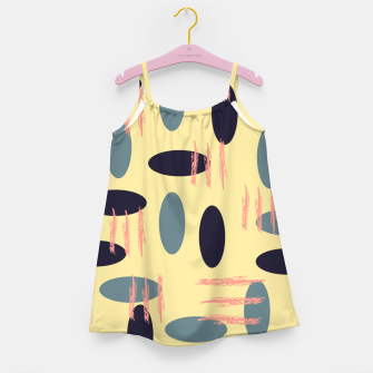 Thumbnail image of Mid century modern abstract shapes pattern Girl's dress, Live Heroes