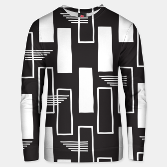 Black and white abstract geometric shapes Unisex sweater thumbnail image