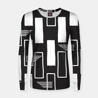 Black and white abstract geometric shapes Women sweater thumbnail image