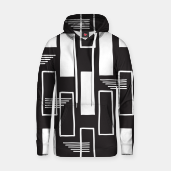 Black and white abstract geometric shapes Hoodie thumbnail image