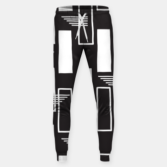 Black and white abstract geometric shapes Sweatpants thumbnail image