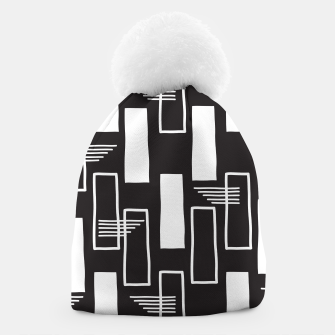 Black and white abstract geometric shapes Beanie thumbnail image