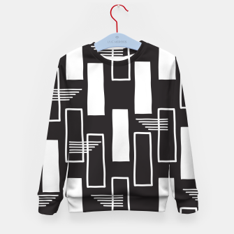 Black and white abstract geometric shapes Kid's sweater thumbnail image