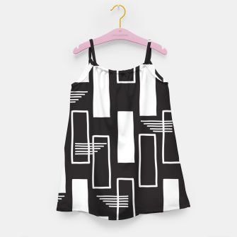 Black and white abstract geometric shapes Girl's dress thumbnail image