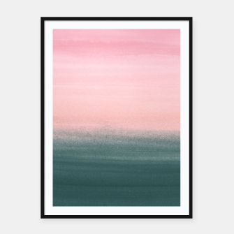 Miniatur Touching Teal Pink Watercolor Abstract #1 #painting #decor #art  Plakat mit rahmen, Live Heroes