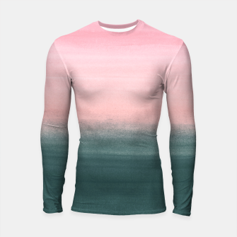 Miniatur Touching Teal Pink Watercolor Abstract #1 #painting #decor #art  Longsleeve rashguard, Live Heroes
