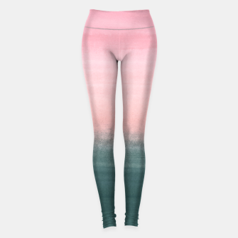 Miniatur Touching Teal Pink Watercolor Abstract #1 #painting #decor #art  Leggings, Live Heroes