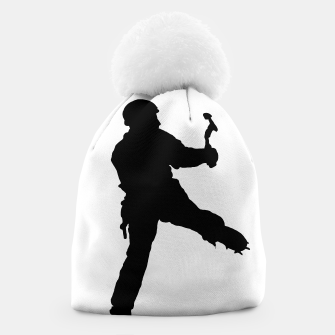 Thumbnail image of ice climber beanie, Live Heroes