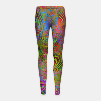 Miniatur New Year's Vibrations Girl's leggings, Live Heroes