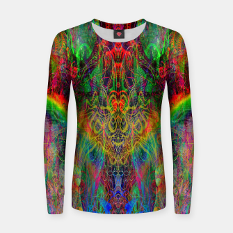Miniatur Dragon Rainbow Exhalation Women sweater, Live Heroes
