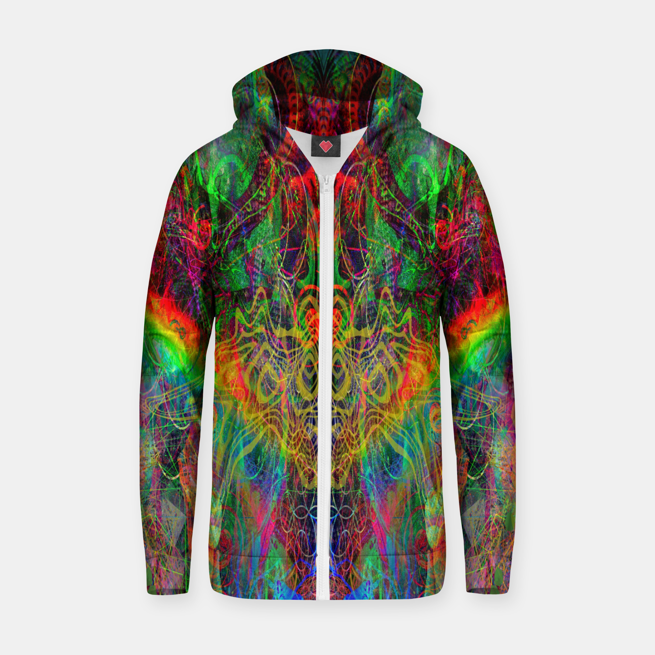 Image of Dragon Rainbow Exhalation Zip up hoodie - Live Heroes