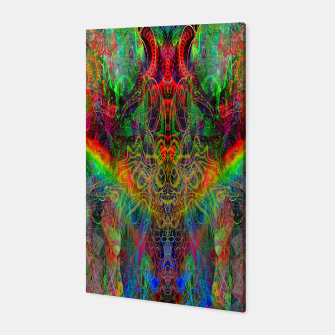 Dragon Rainbow Exhalation Canvas Bild der Miniatur