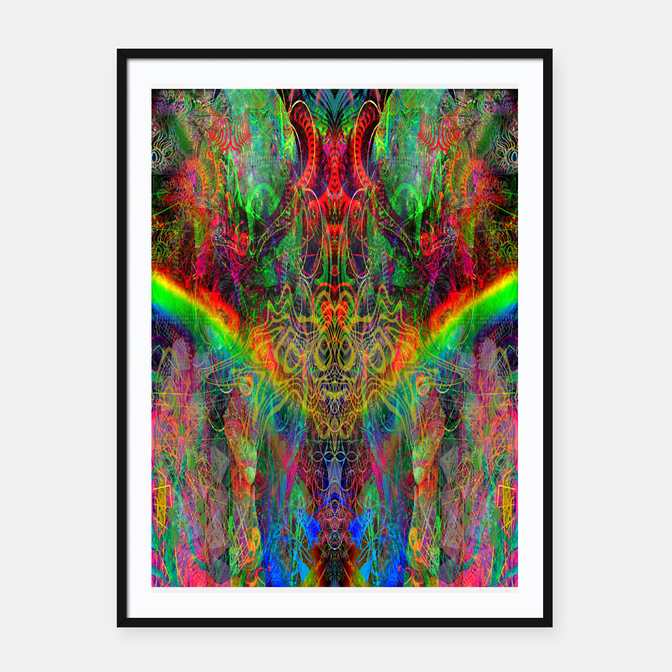 Image of Dragon Rainbow Exhalation Framed poster - Live Heroes