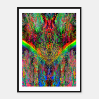 Dragon Rainbow Exhalation Framed poster Bild der Miniatur