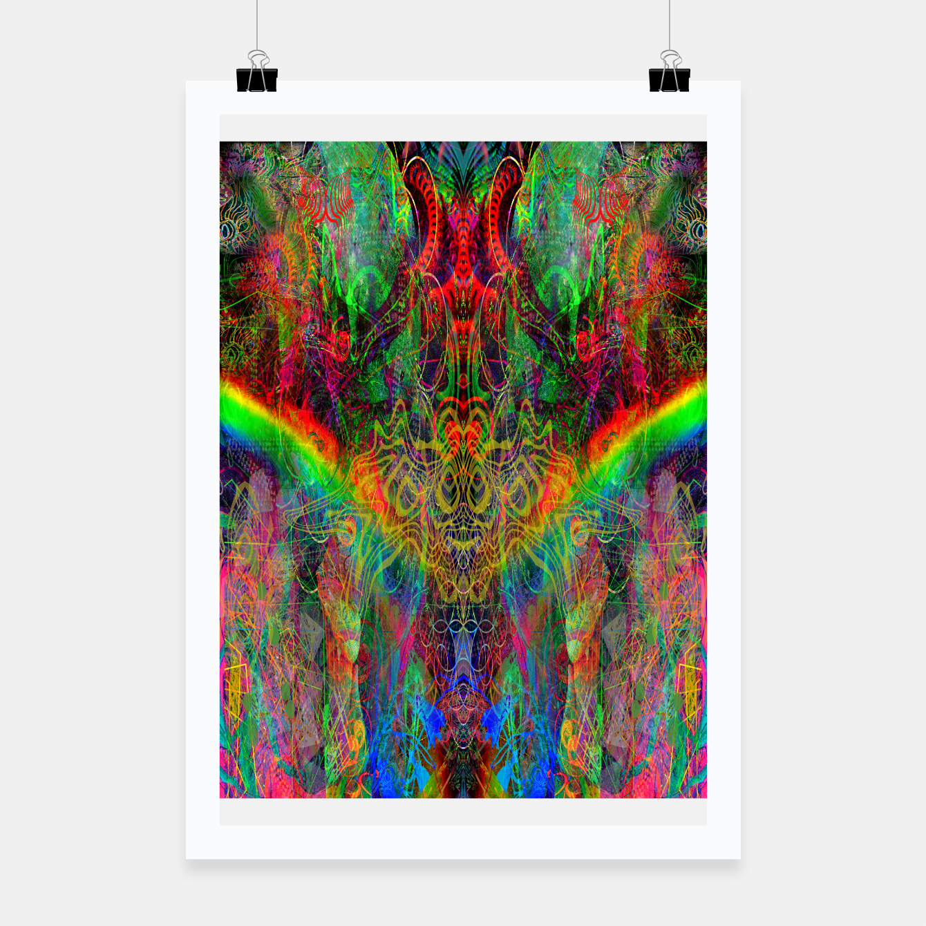 Image of Dragon Rainbow Exhalation Poster - Live Heroes